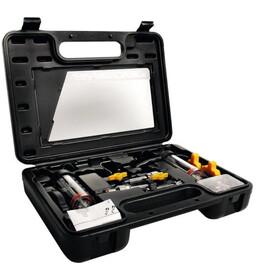 Jagwire Elite Mineral Kit de purge adaptateur Shimano/Magura/Tektro/TRP inclus, black/yellow